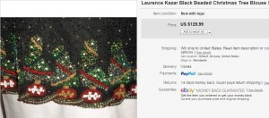 Christmas Beaded Blouse