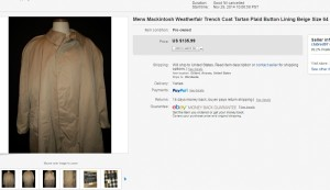 Mens Mackintosh Trench Coat 10-9-2015