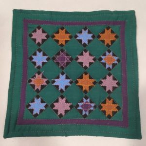 "Miniature Ohio Star 6"" Quilt Amish Heritage Collection Designed Anna M Dezendorf Sold for $14.99"